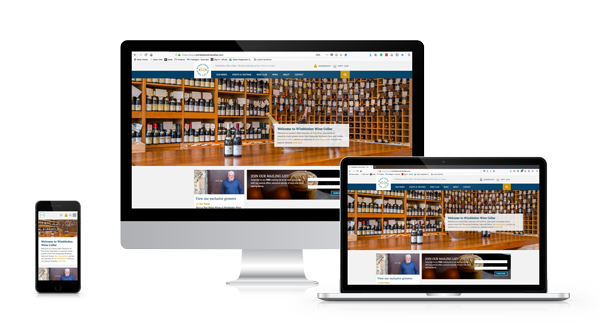 Wimbledone Wine Cellar resposive webs design