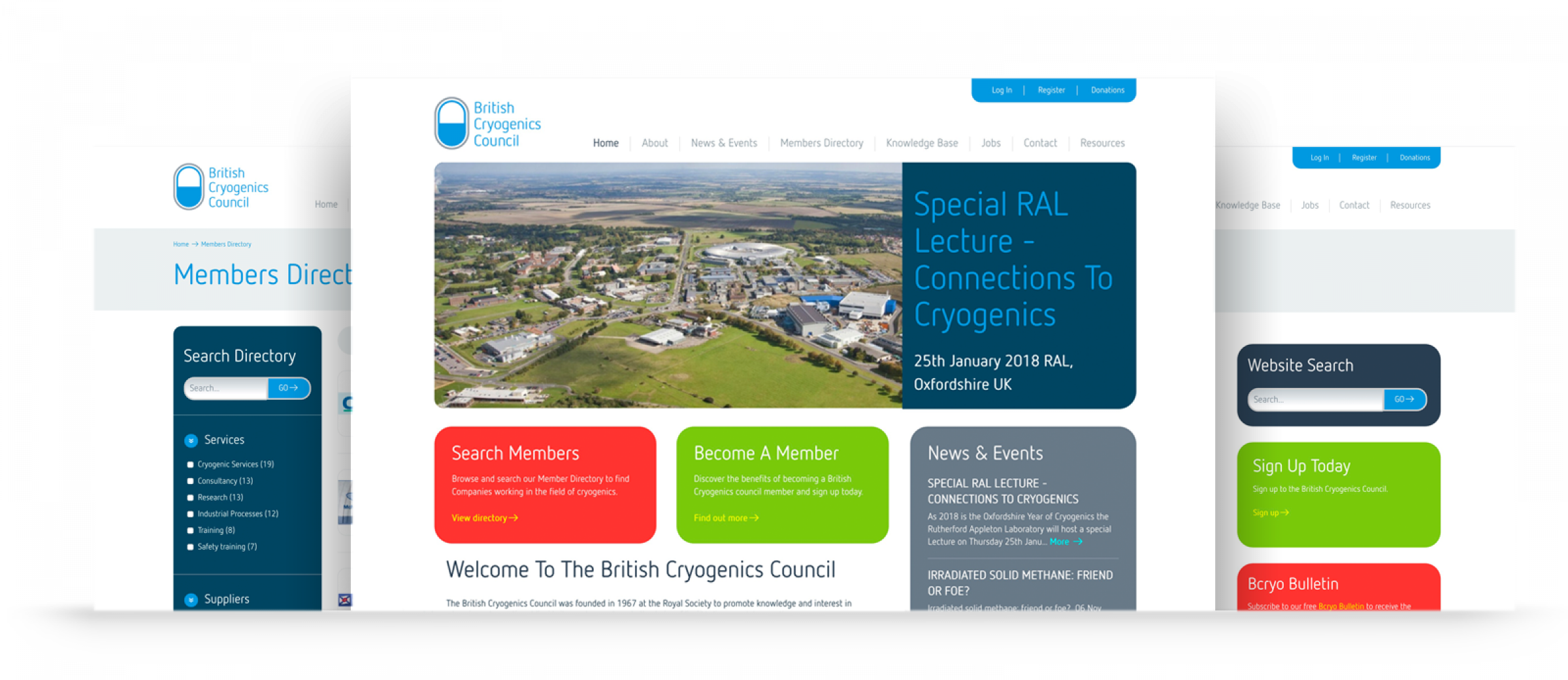 British Cryogenics Council repsposive web designs