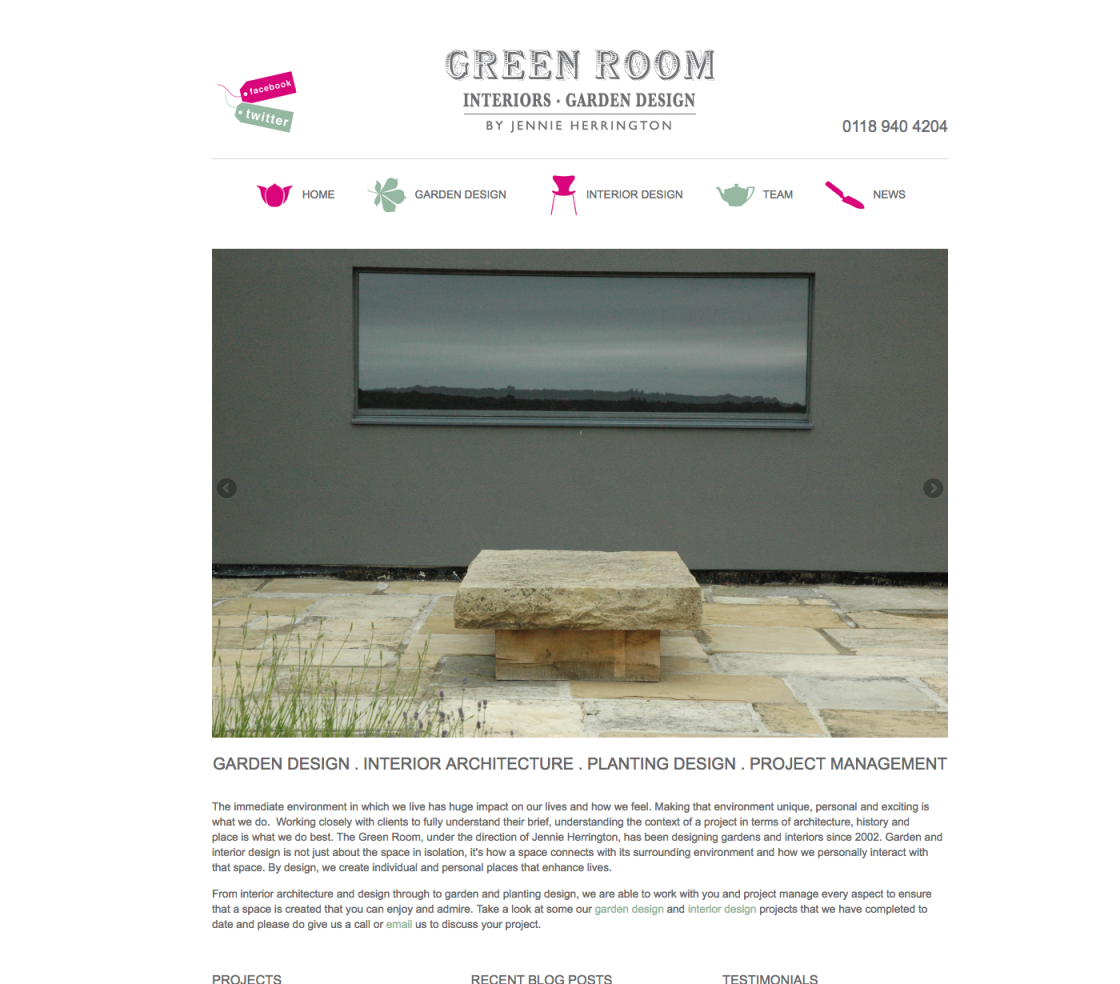 The Green Room Homepage