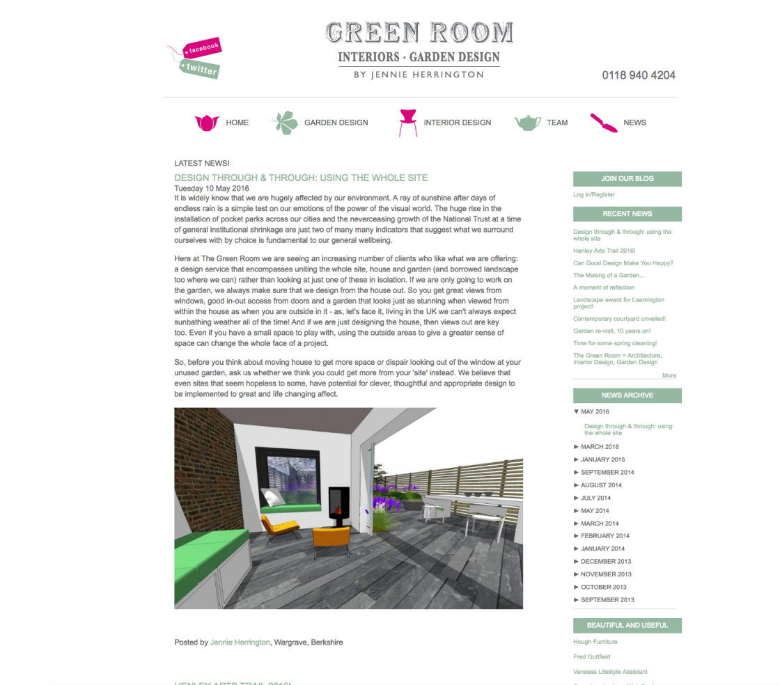 The Green Room News