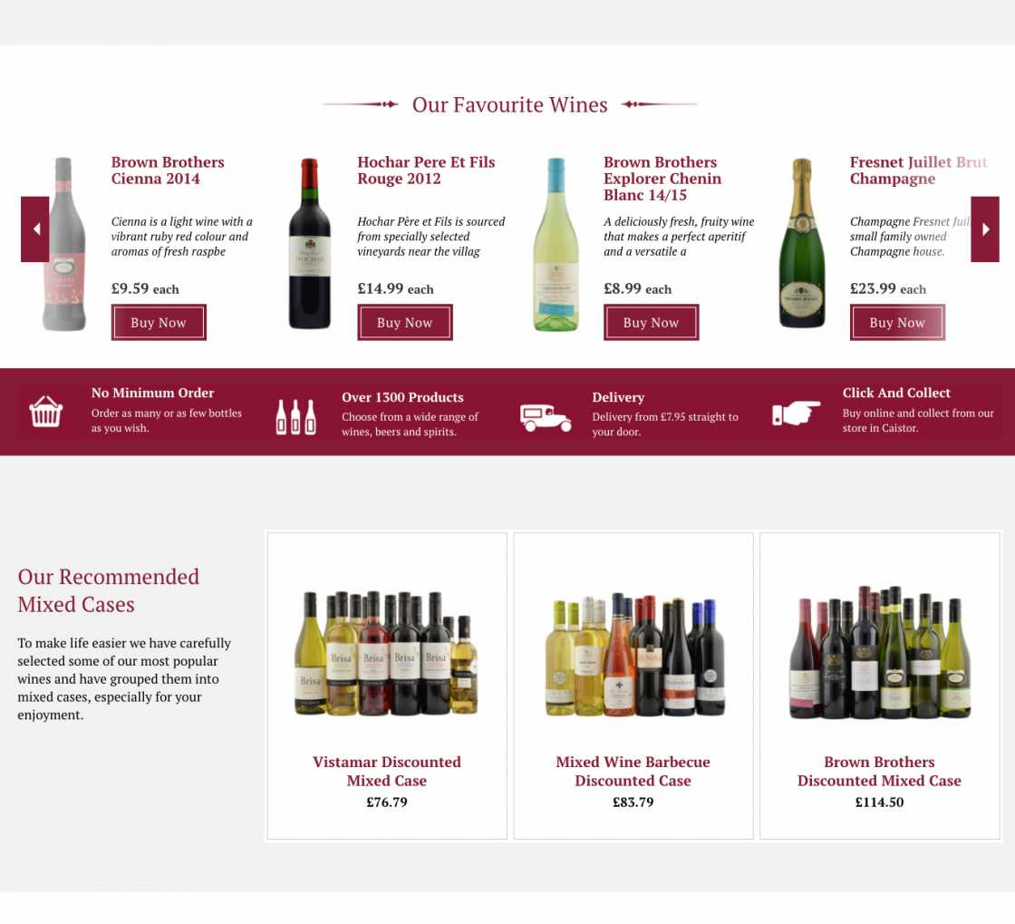 Sandhams wine homepage 2