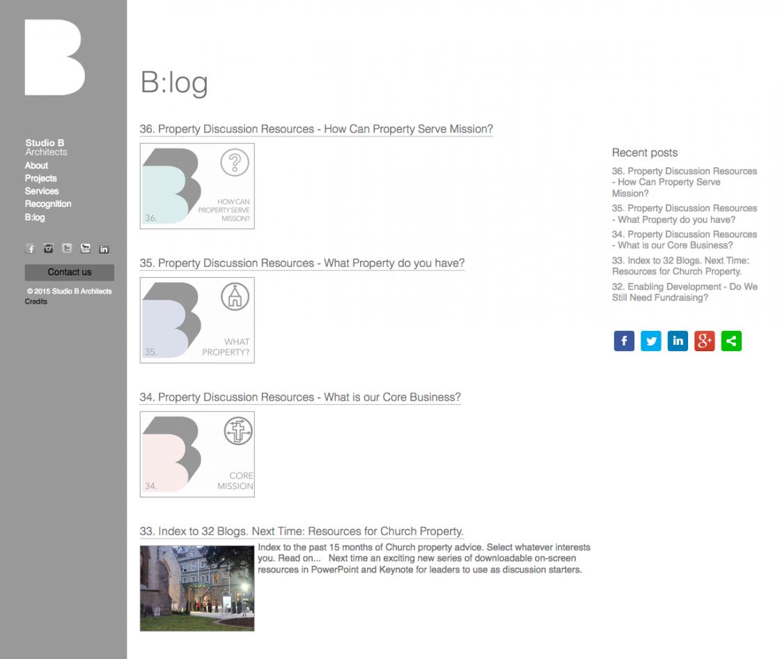 Studio B Blog