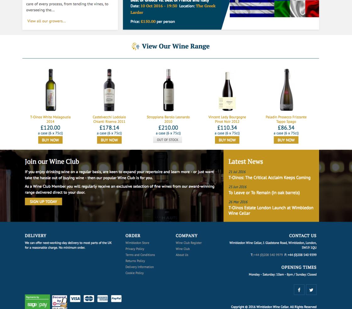 Wimbledon Wine Cellar Club Footer