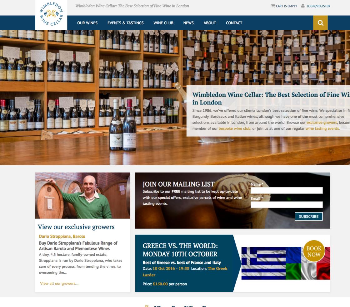 Wimbledon Wine Cellar Club Homepage
