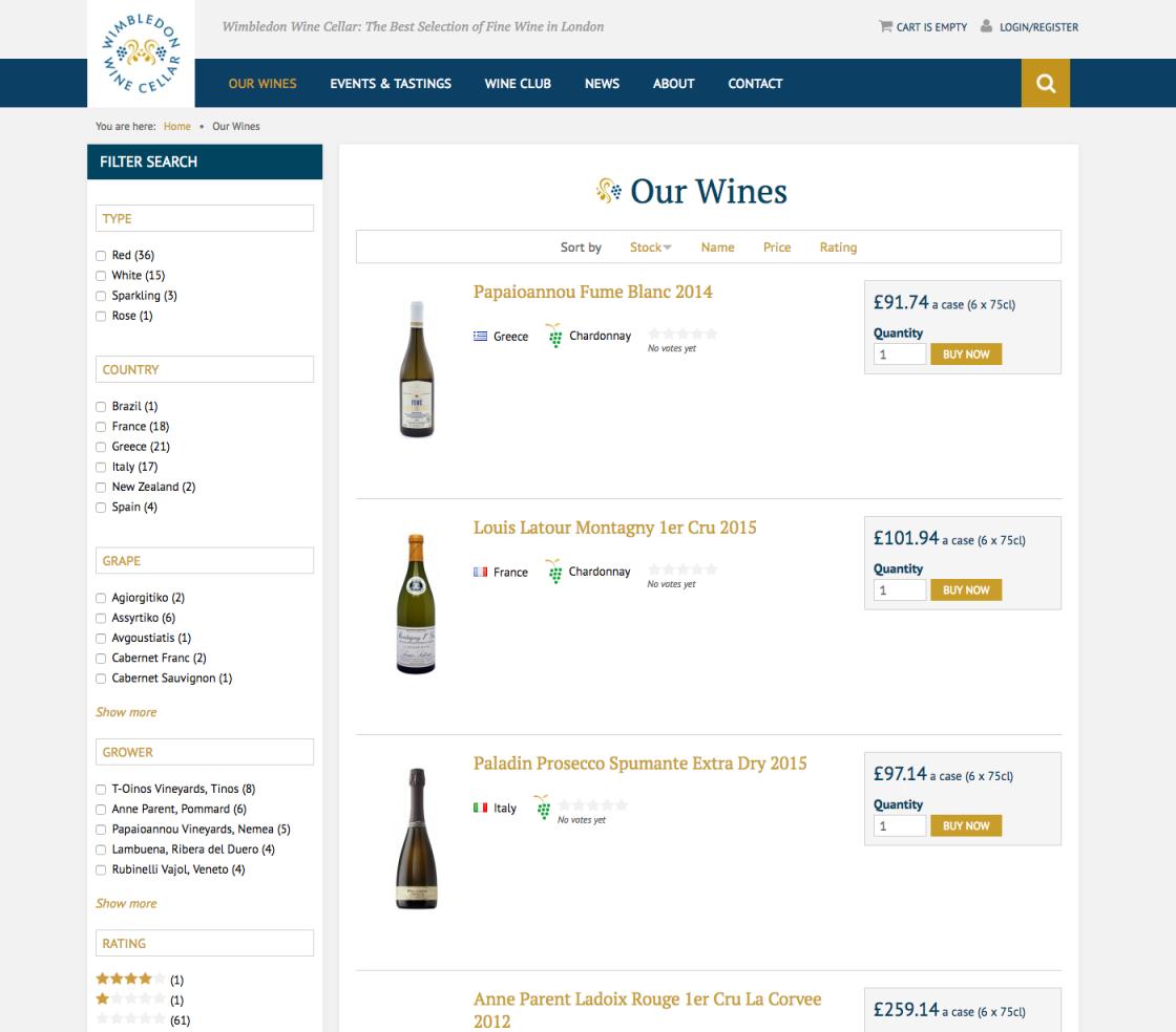 Wimbledon Wine Cellar Club Browse Wines