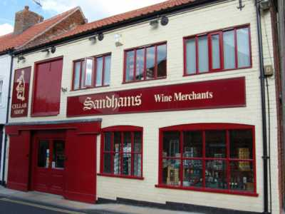 Sandhams Wine Mercahnt Shop front