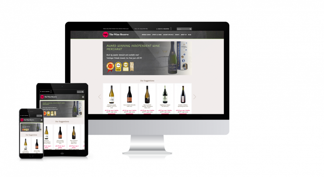 The Wine Resserve resposive web design