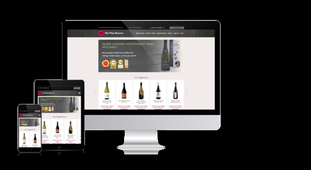 The Wine Resserve resposive web design